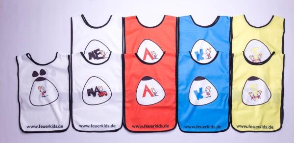 Feuerkids® Leibchen mit Piktogrammen für Kinderfeuerwehren